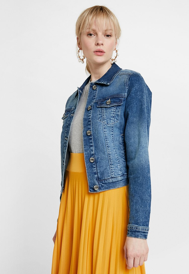 Cream - LISA JACKET - Kurtka jeansowa - rich blue denim