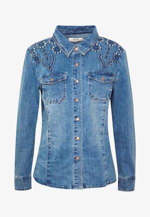 YILLA - Button-down blouse - blue denim