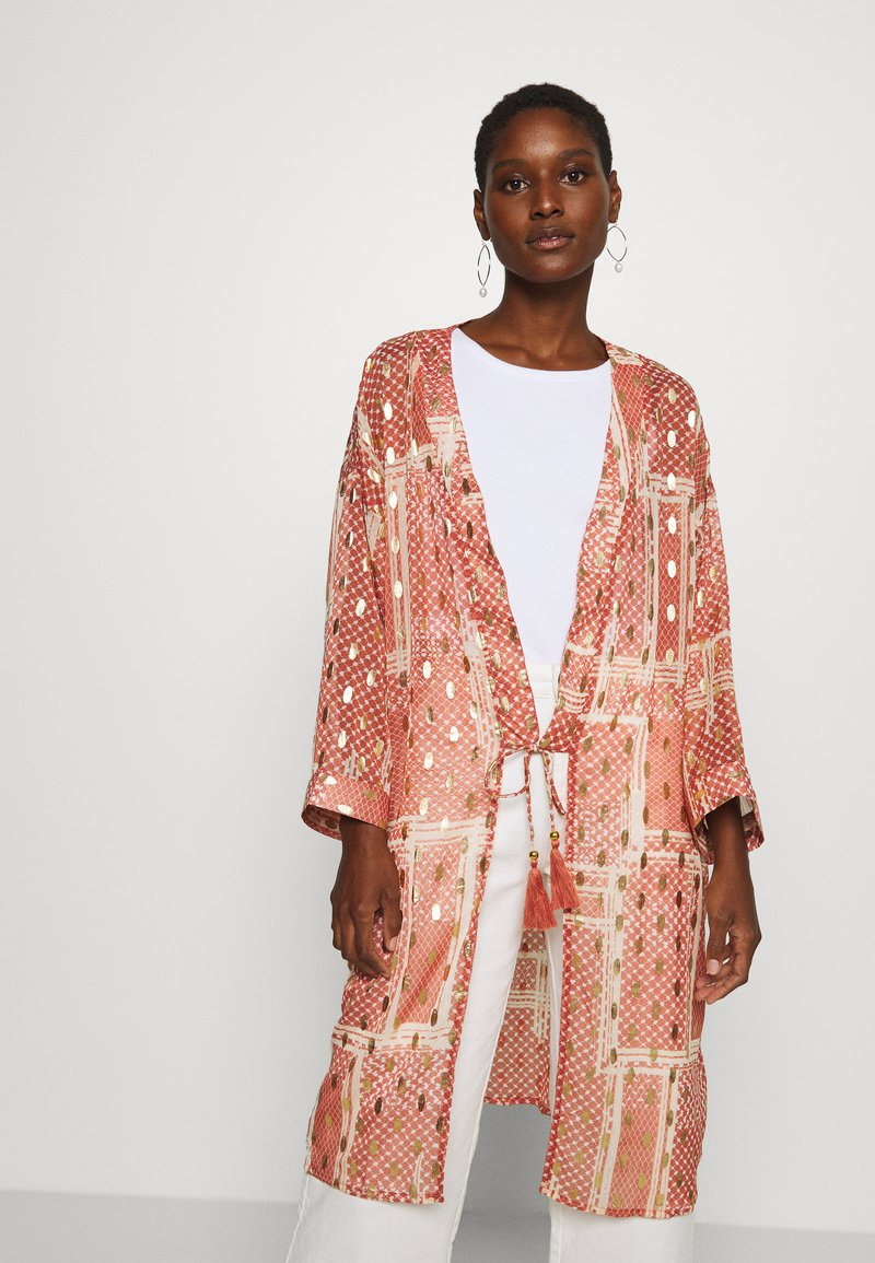 Cream - AVERY KIMONO - Summer jacket - orange ethnic