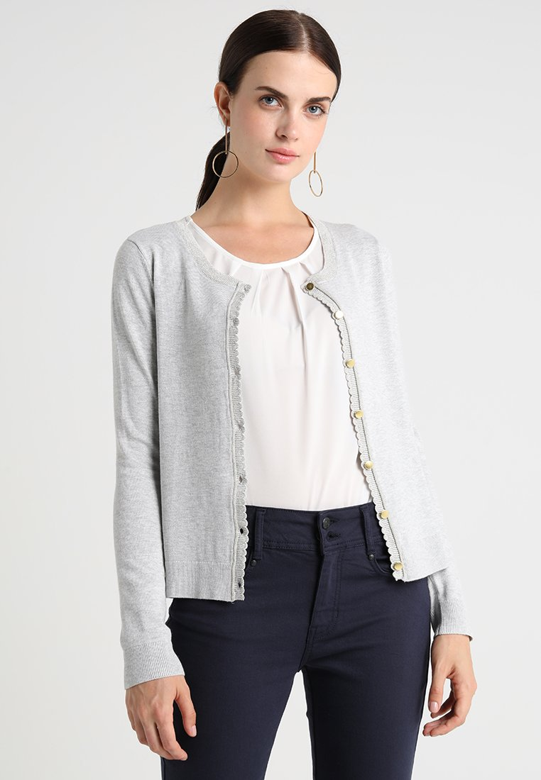 Cream - TAMMY CARDIGAN - Strikjakke /Cardigans - light grey melange