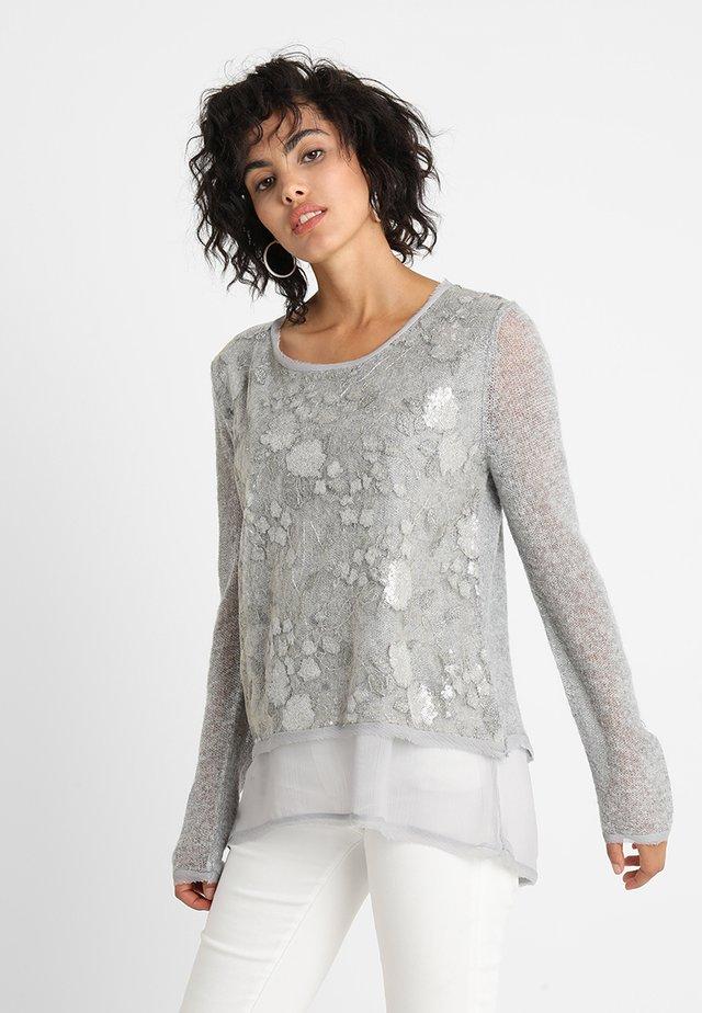 ARIETTA - Stickad tröja - light grey melange