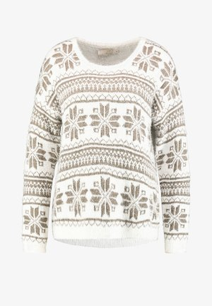 HOLIDAY SWEATER - Neule - pristine chalk