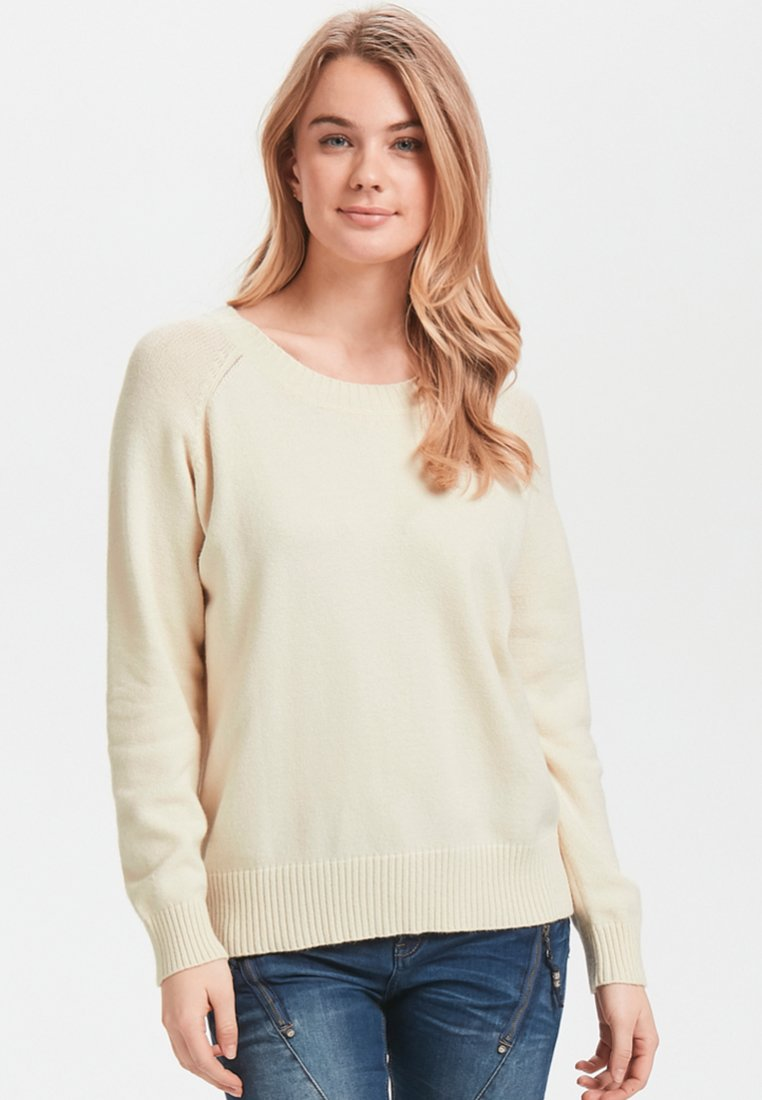 Cream - Strickpullover - off white