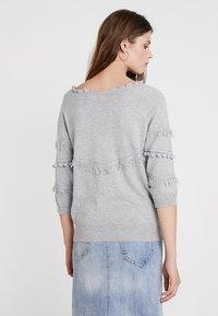 Cream - FARETTA - Pullover - light grey melange - 2