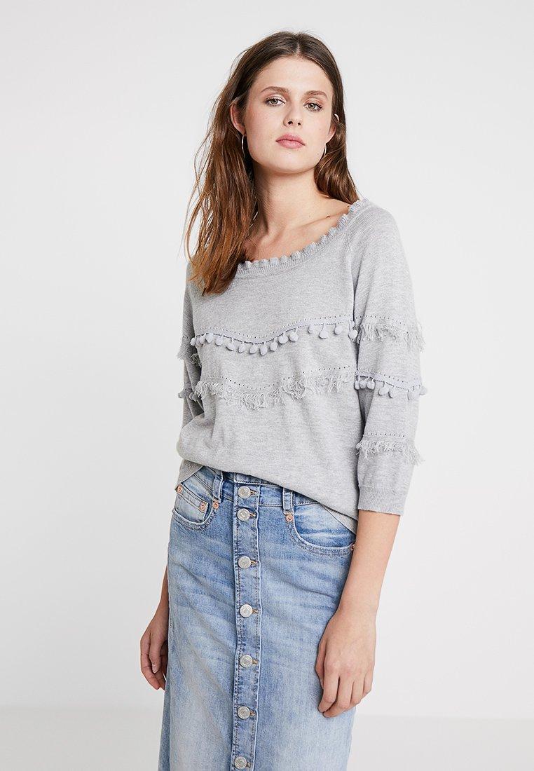 Cream - FARETTA - Pullover - light grey melange