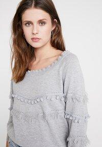 Cream - FARETTA - Pullover - light grey melange - 3