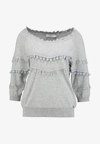Cream - FARETTA - Pullover - light grey melange - 4