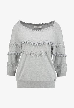 FARETTA - Strickpullover - light grey melange