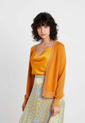 SIMONA CARDIGAN - Cardigan - yellow gold