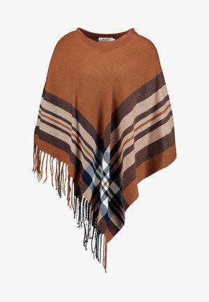 BRIELLE PONCHO - Pláštěnka - dachshund brown