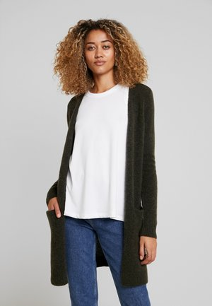 KAITLYN NEW CARDIGAN - Cardigan - crocodile green