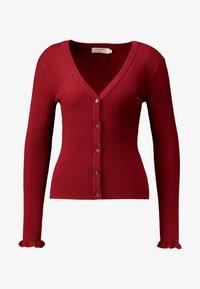 Cream - HELENA CARDIGAN - Cardigan - merlot red - 3
