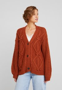 Cream - ANDREA CARDIGAN - Kardigan - ginger bread - 0