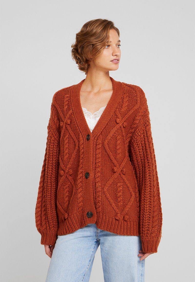 Cream - ANDREA CARDIGAN - Kardigan - ginger bread