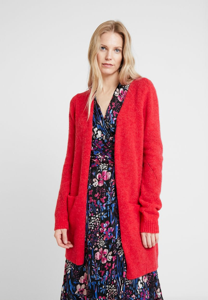 Cream - KAITLYN SOLID CARDIGAN - Vest - red