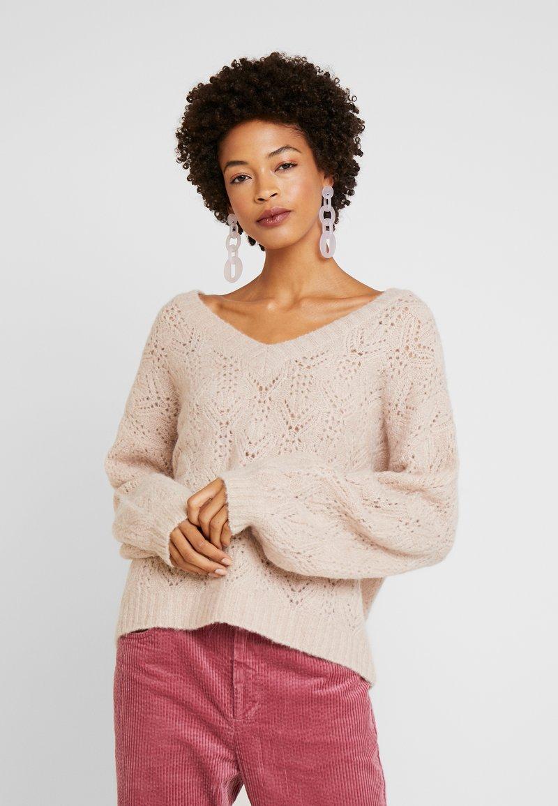 Cream - Trui - desert pink melange