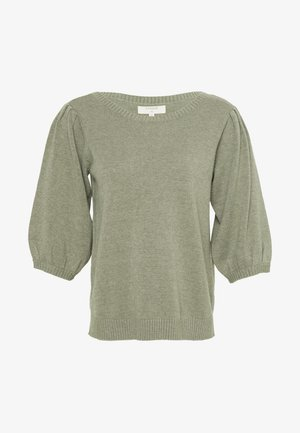 DELACR KNIT BLOUSE - Jumper - oil green melange