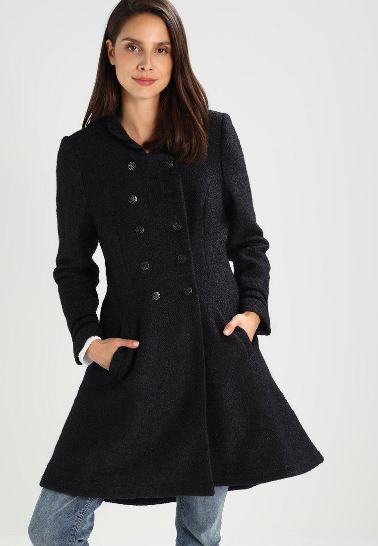 Cream - ANNABELL - Short coat - black melange