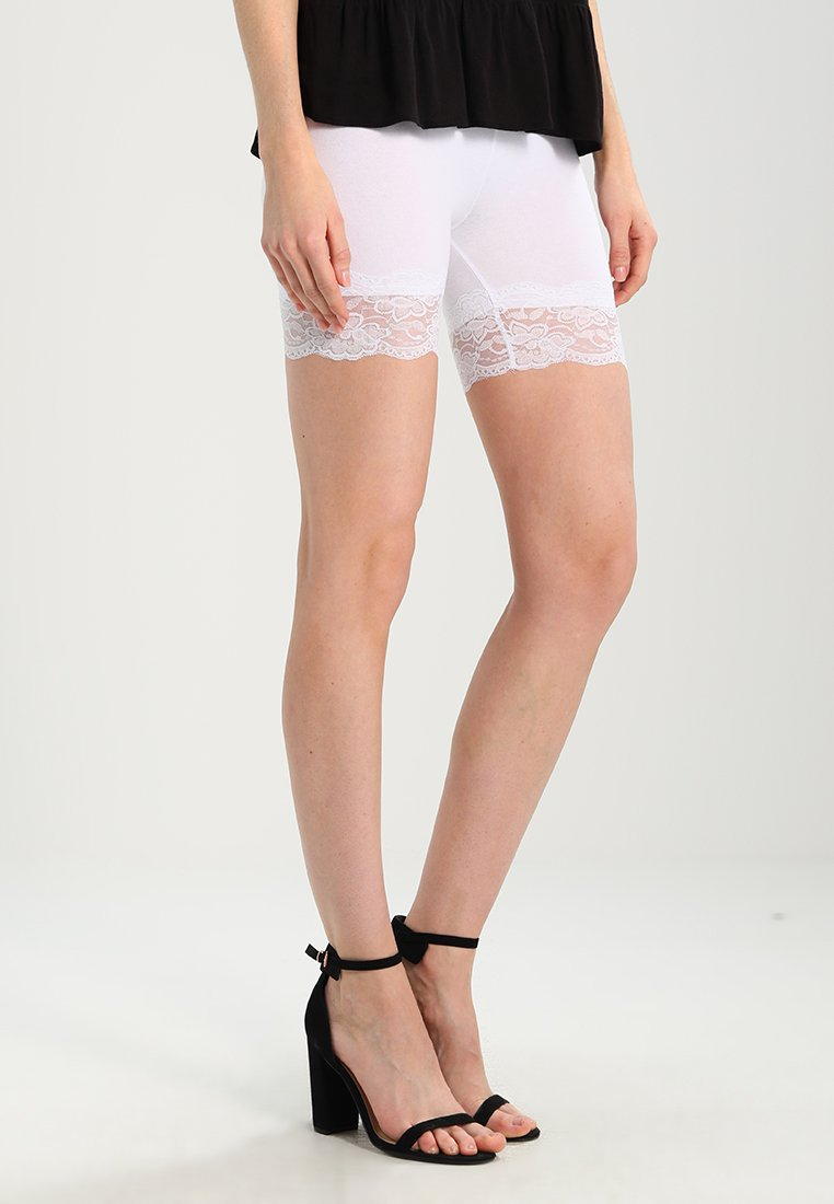 Cream Matilda Biker - Shorts Optical White