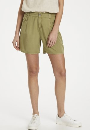 CREAM LINECR  - Shorts - cedar green