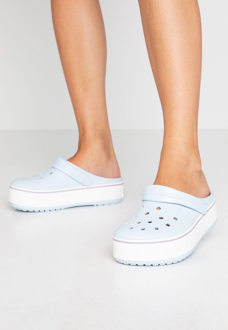 Crocs - CROCBAND PLATFORM  - Slip-ins - mineral blue/lavender