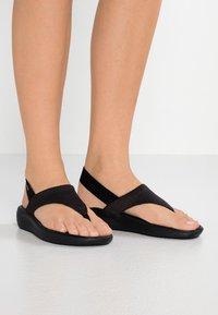 Crocs - LITERIDE MESH - Varvassandaalit - black - 0
