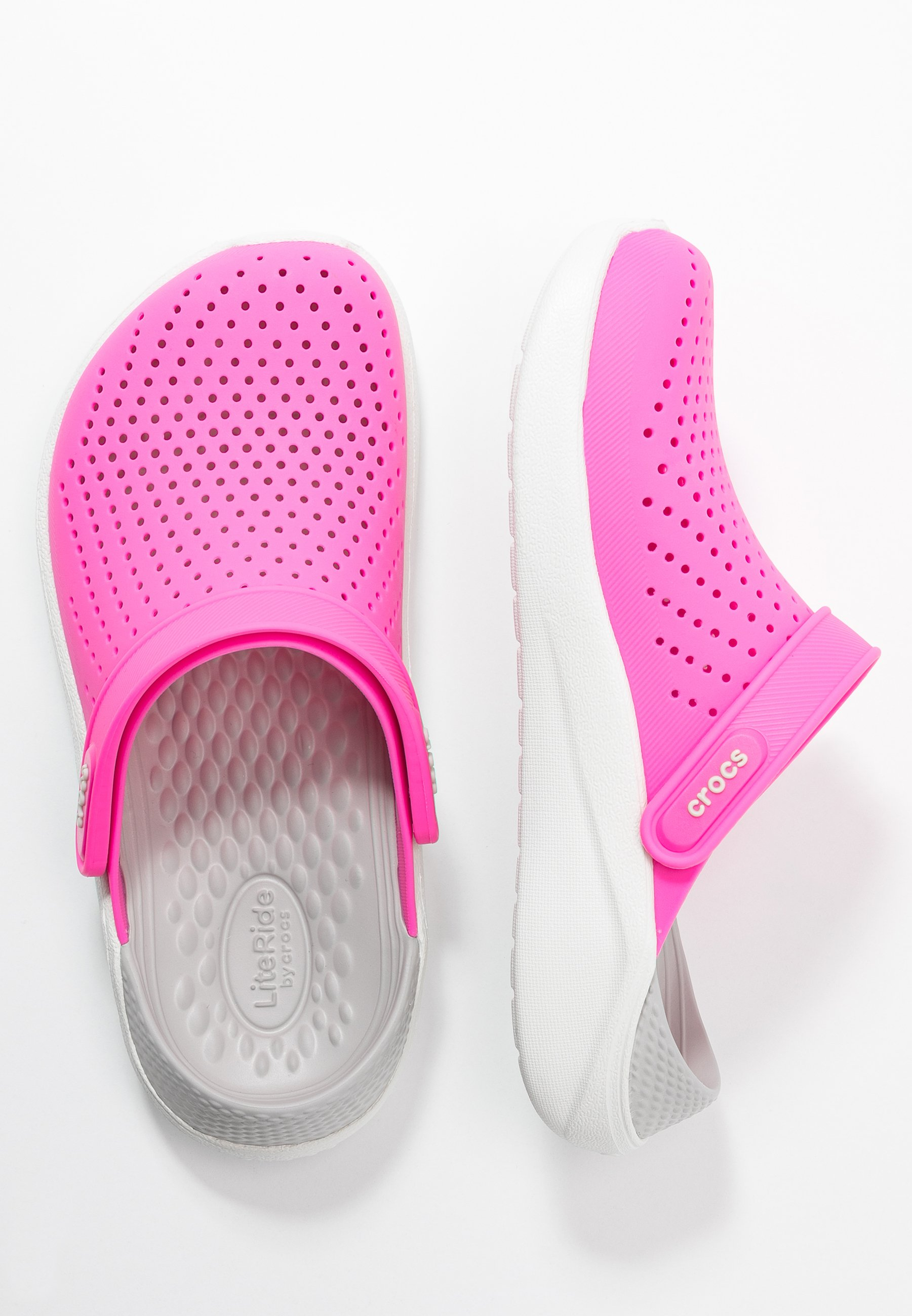Palats öka förare  Crocs LITERIDE RELAXED FIT - Sandaler - electric pink/almost white