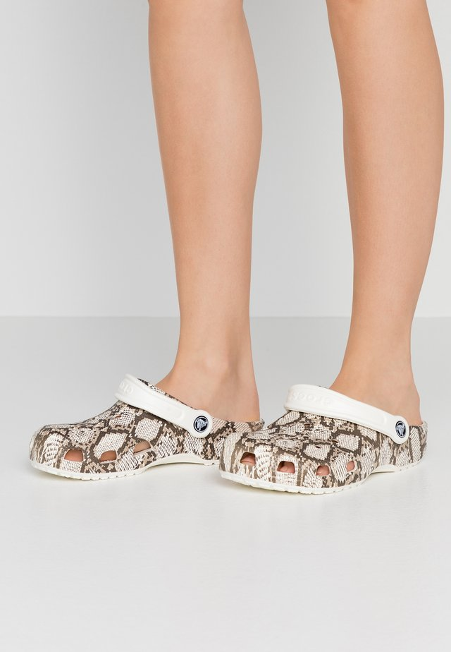 CLASSIC SNAKE PRINT - Pantoffels - oyster/mushroom
