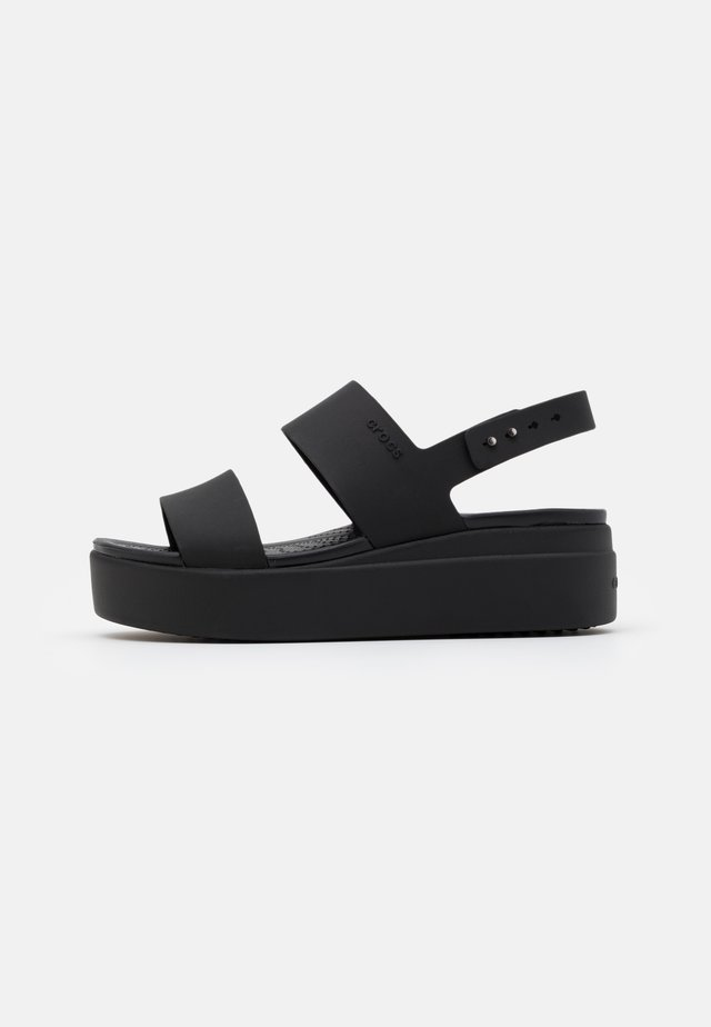 BROOKLYN LOW WEDGE - Platåsandaletter - black