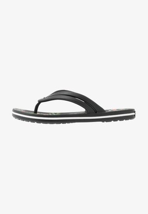 CROCBAND BOTANICAL PRINT  - Pantofole - black