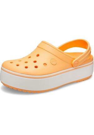 Pantolette flach - orange