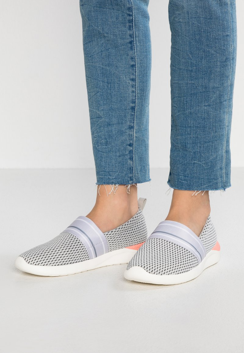 Crocs - LITERIDE - Slipper - pearl white/white