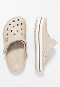 Crocs - CROCBAND - Dřeváky - cobblestone/walnut - 1