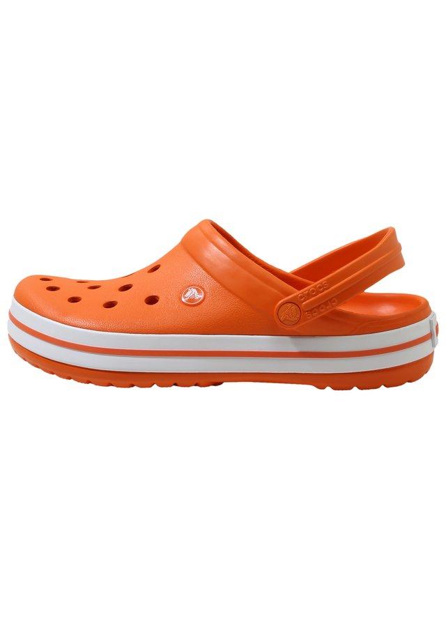 CROCBAND - Clogs - orange / white