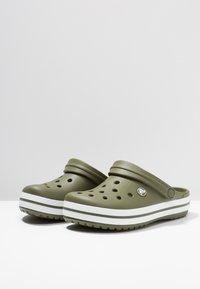 Crocs - CROCBAND - Clogs - army green/white - 2