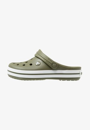CROCBAND - Clogs - army green/white