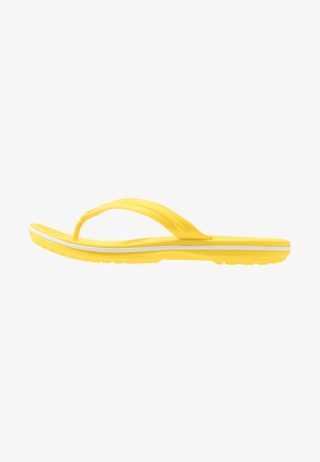 CROCBAND FLIP - Chanclas de dedo - lemon/white