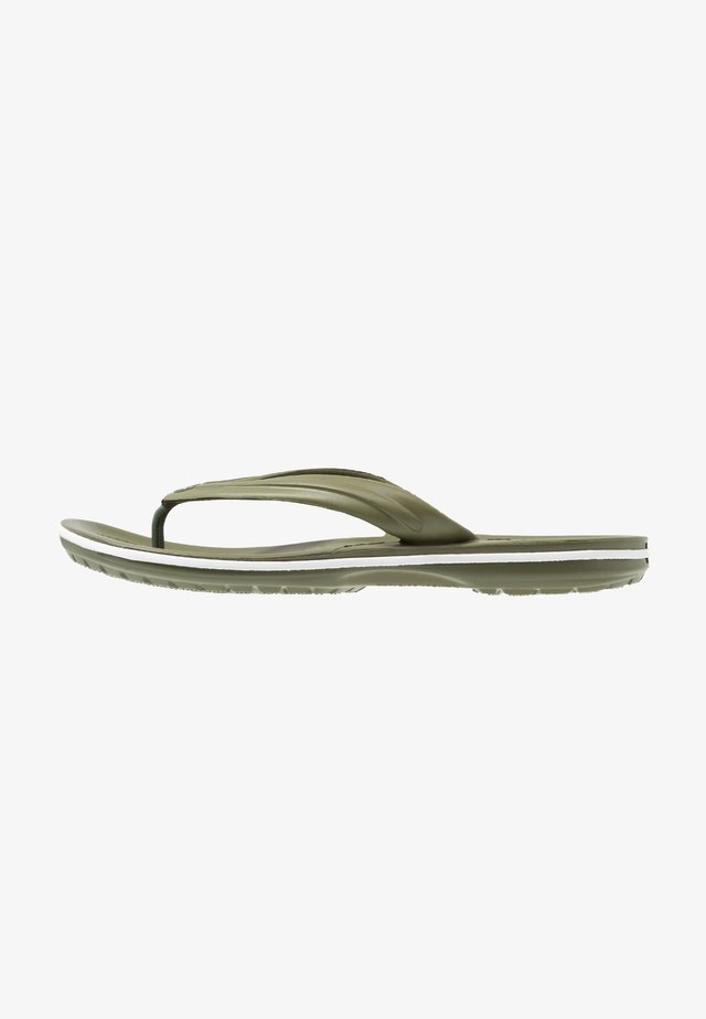 CROCBAND FLIP - Chanclas de dedo - army green/white