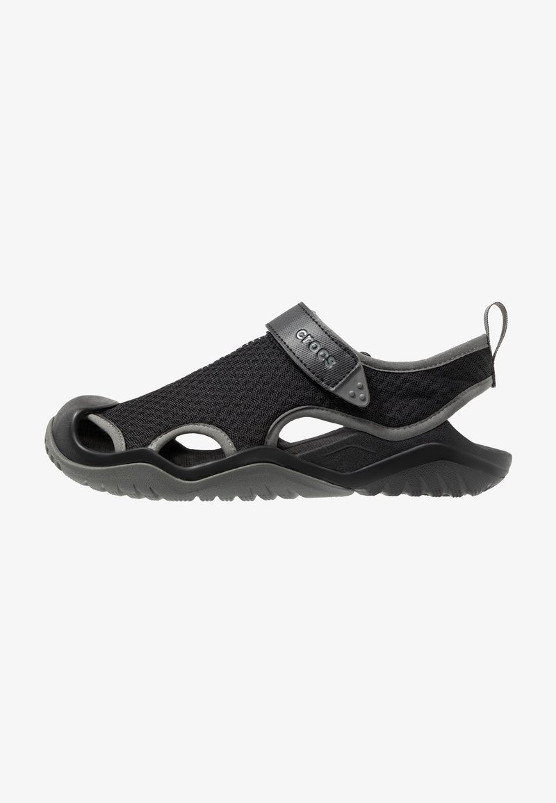 Crocs - SWIFTWATER DECK RELAXED FIT - Riemensandalette - black