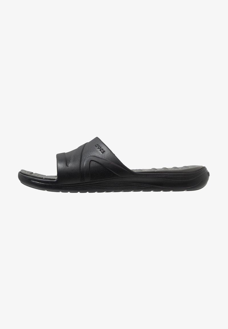 Crocs - REVIVA SLIDE RELAXED FIT - Pool slides - black/slate grey