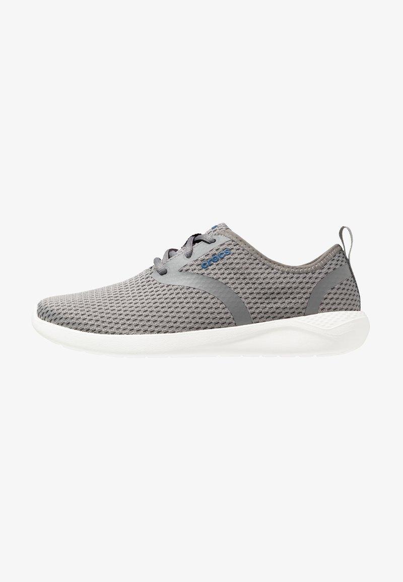 Crocs - LITERIDE LACE STANDARD FIT - Trainers - smoke/white