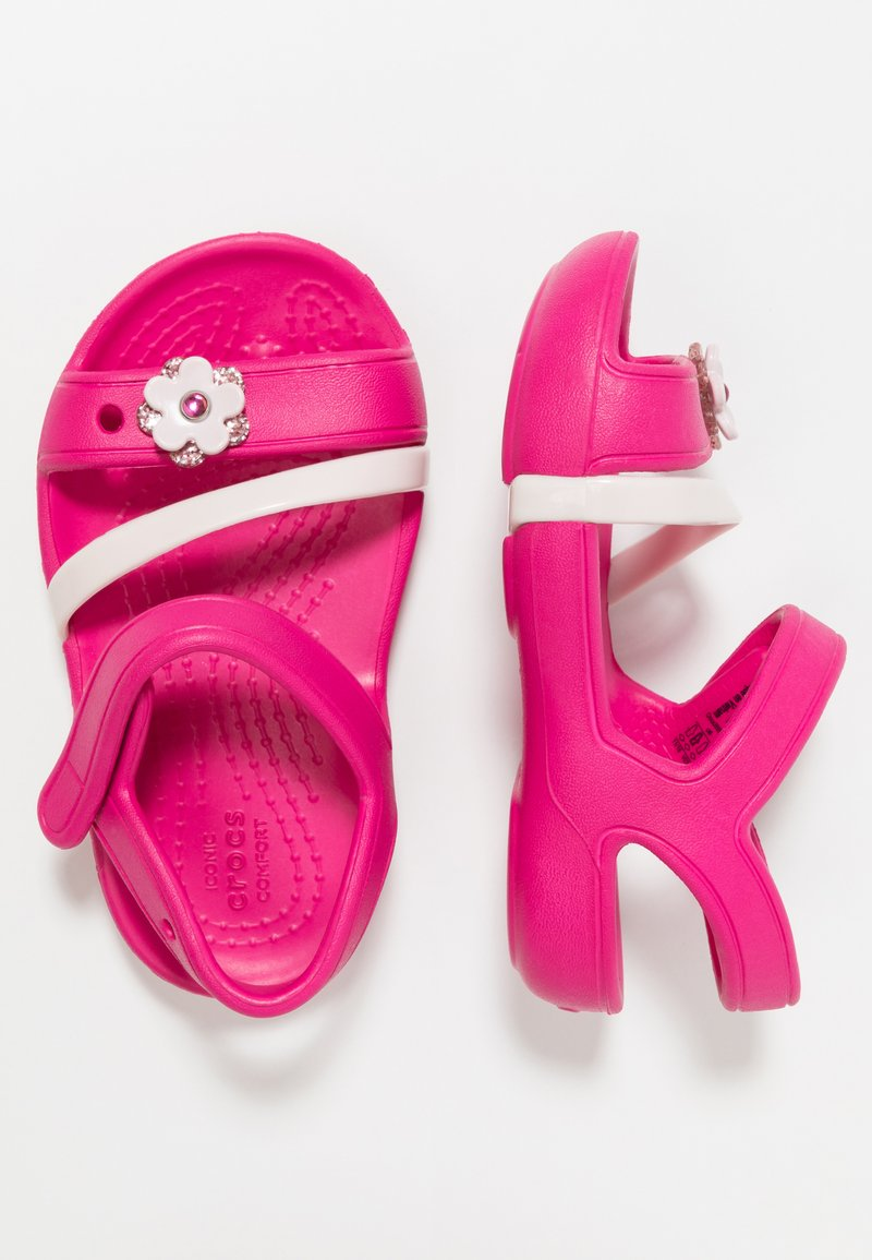 Crocs - LINA CHARM RELAXED FIT - Chanclas de baño - candy pink