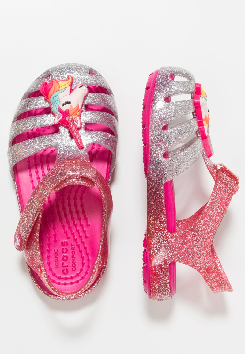 Crocs - ISABELLA CHARM RELAXED FIT  - Badslippers - pink ombre