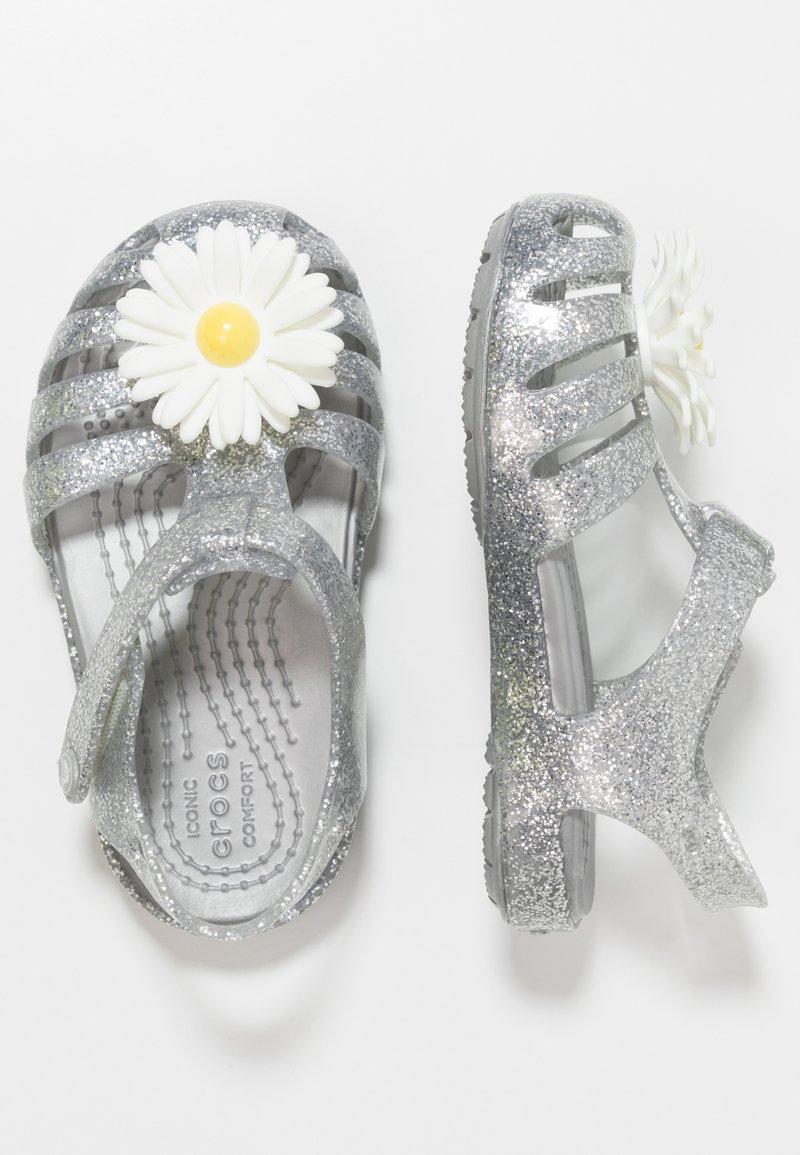 Crocs - ISABELLA CHARM RELAXED FIT  - Chanclas de baño - silver