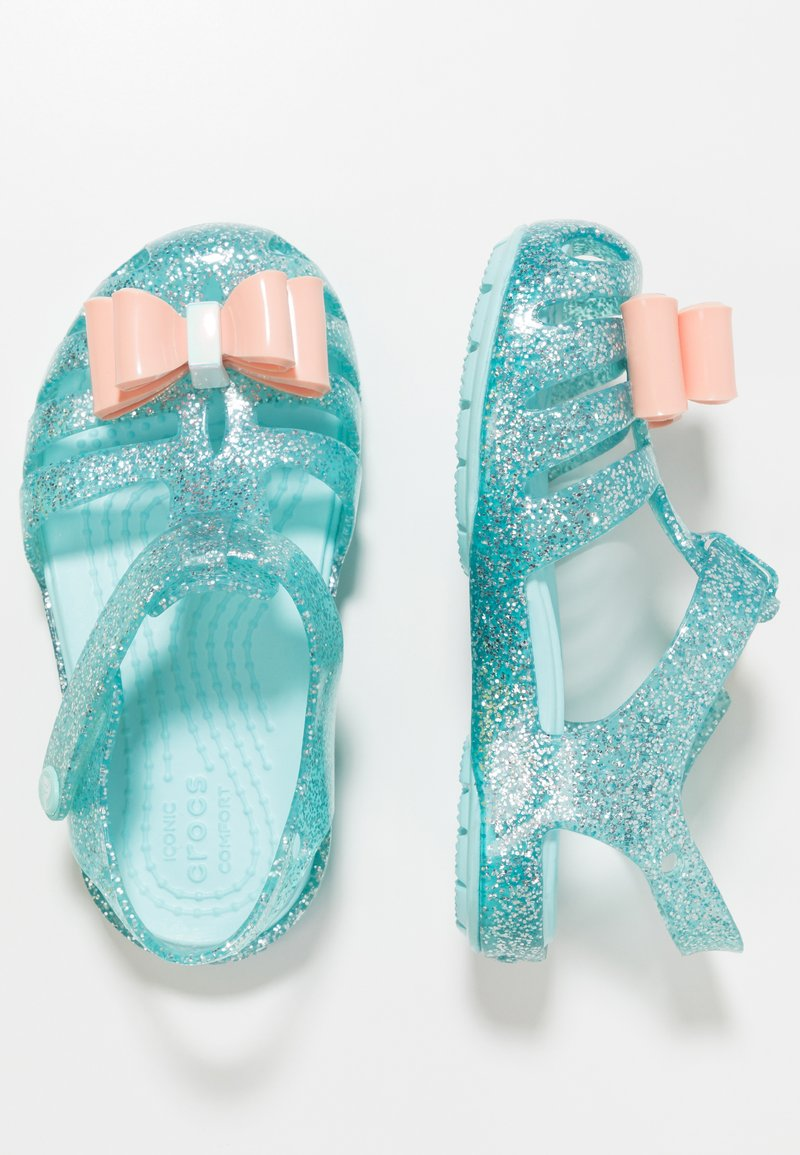 Crocs - ISABELLA BOW RELAXED FIT - Chanclas de baño - ice blue