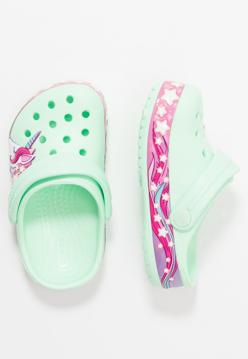 Crocs - FUNLAB UNICORN BAND - Pool slides - neo mint