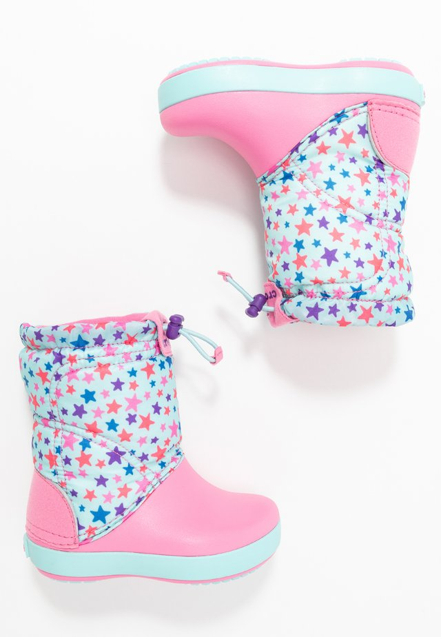 LODGEPOINT GRAPHIC - Botas para la nieve - ice blue/pink lemonade