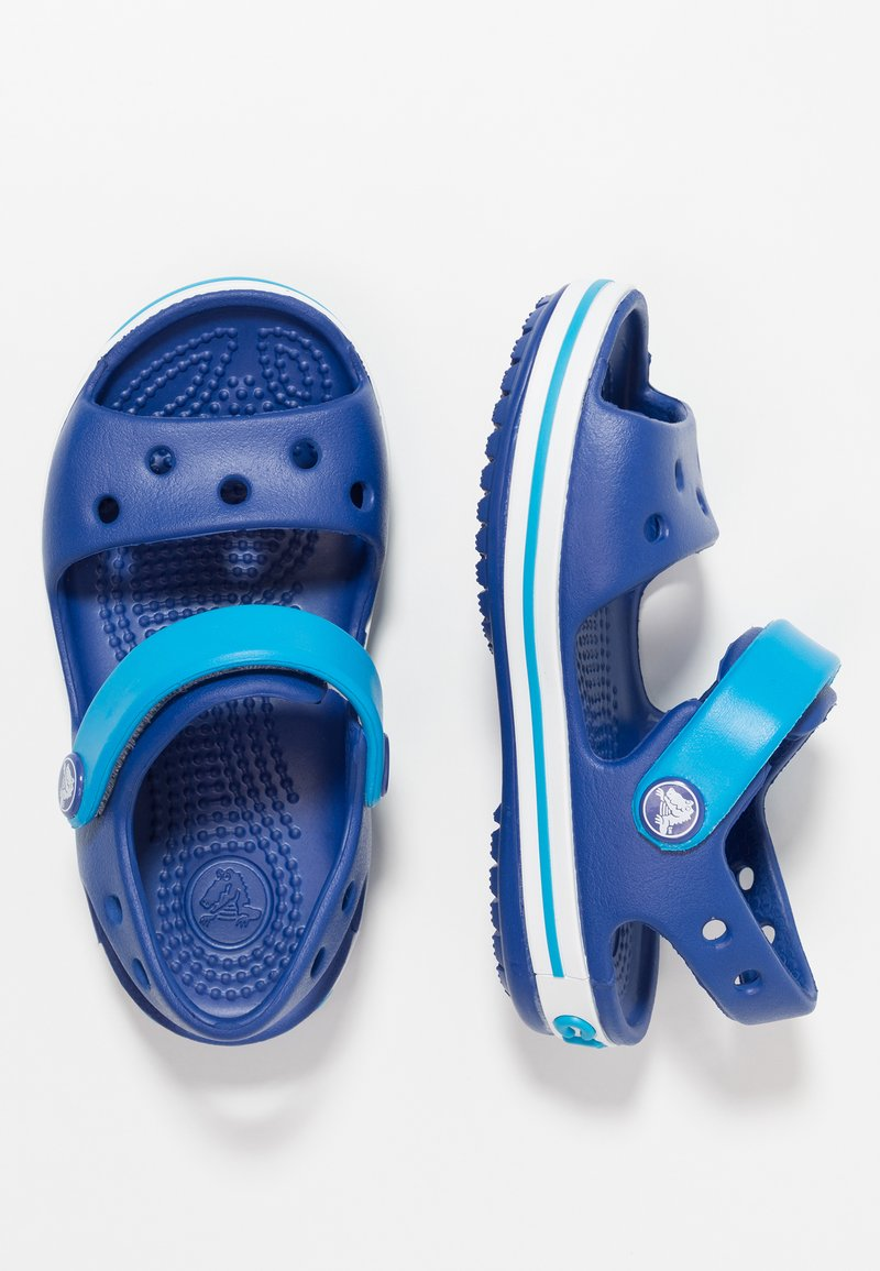 Crocs - CROCBAND KIDS - Pool slides - cerulean blue/ocean