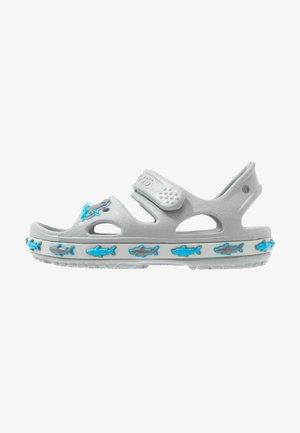 SHARK BAND - Sandály do bazénu - light grey