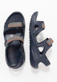 Crocs - SWIFTWATER - Sandały kąpielowe - navy/slate grey - 1